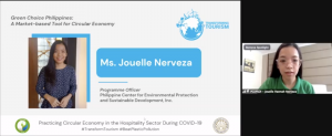 PCEPSDI Programme Officer, Ms. Jouelle Nerveza, who also shared how NELP-GCP can be upscaled and promoted by product and service providers, and institutional and general consumers.